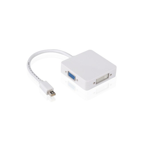 Smart Adaptor din Mini Display Port Thunderbolt in HDMI / VGA / DVI