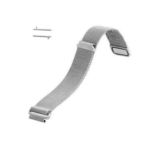 Curea metalica argintie cu magnet pentru Samsung Gear S2