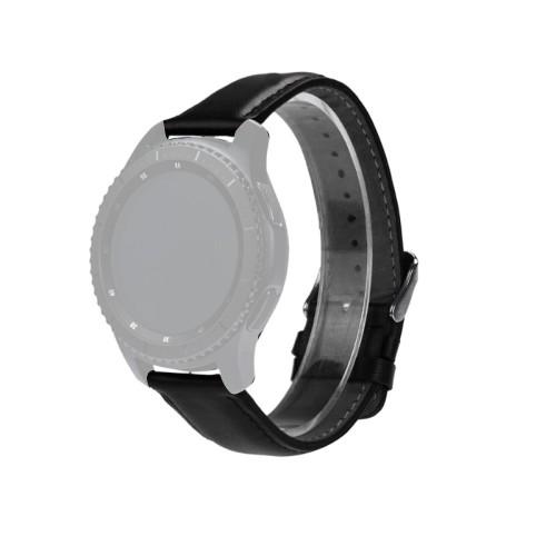 Curea neagra din piele pentru Samsung Gear S3