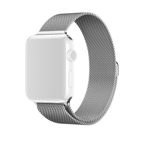 Curea metalica argintie pentru Apple Watch 42mm