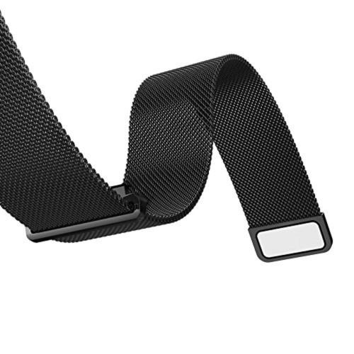 Curea metalica neagra cu magnet pentru Samsung Gear S3