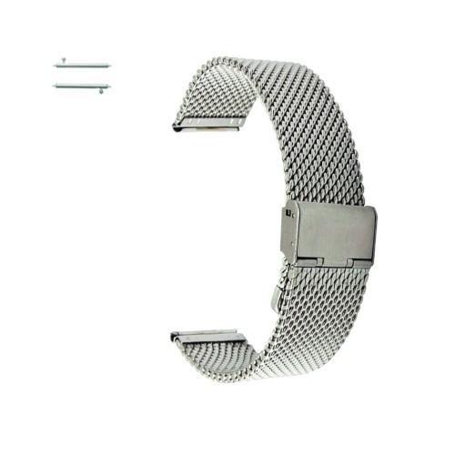 Curea metalica argintie Extra Slim pentru Huawei Watch W1
