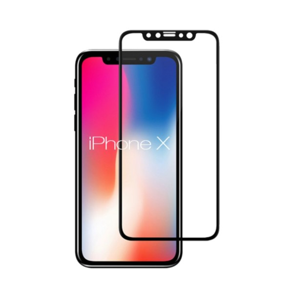tempered glass ultra smart protection iphone x fulldisplay negru