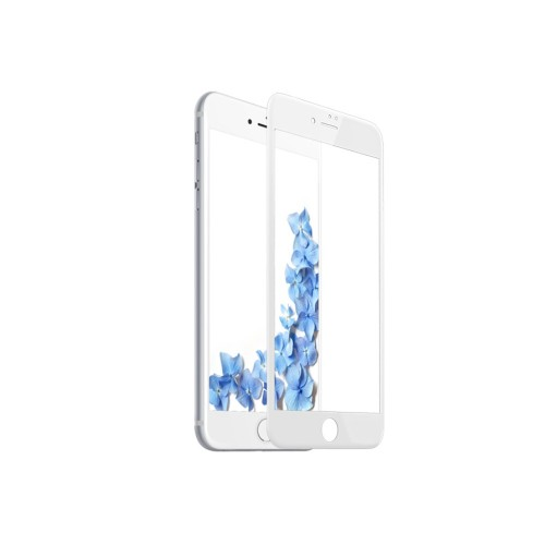 Tempered Glass - Ultra Smart Protection iPhone 7 alb fulldisplay